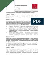 Microeconomia. Examen Final 2013
