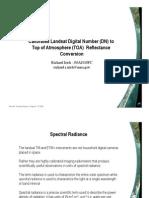 Calculation-DN to Reflectance Irish 20June08