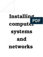 Install Computer Systems and Networks