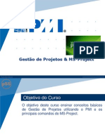 Curso de Gestão de Projetos - MS Project 2010