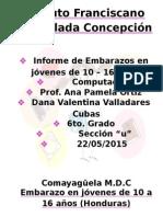Informe de Embarazos en Jovenes en Honduras