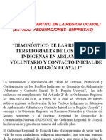 Exposición Gobierno Regional Ucayali - Diagnostico Plan Antropologico