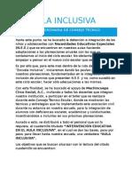 Reporte de Actividades Del CTE - Escuela Inclusiva - Mayo