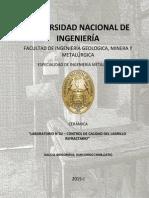 LAB 2° CERAMICA - CONTROL DE CALIDAD DEL LADRILLO REFRACTARIO