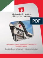 MINJUS - Guía Práctica Sobre La Transparencia y El Acceso a La Información Pública - 2014