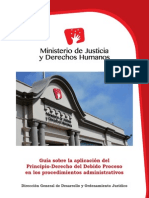 MINJUS - Guía Sobre La Aplicación Del Principio Derecho Del Debido Proceso - 2013