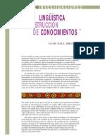 Actividad Lingüística y Construcción de ConocimientosBRONCKART