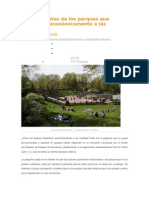Siete Atributos de Los Parques Que Benefician Económicamente a Las Ciudades