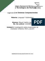 Generador de analizador sintáctico YACC y JavaCC