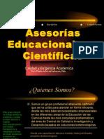 Asesorias educacionales y científicas