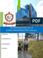j Nuñez - Laboratorio 2 Irrigaciones Tanque Evaporimetro