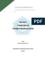 Modul Praktikum Pemrograman WEB [Pert. 1]