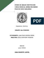 Ensayo Quimica 2do Periodo - Juan David Borda