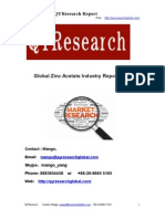 Global Zinc Acetate Industry Report 2015