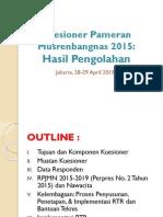 Hasil Kuesioner Pameran Musrenbangnas 2015-BKPRN