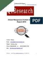 Global Manganese Acetate Industry Report 2015