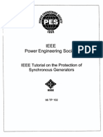 IEEE Tutorial on the Protection of Synchronous Generators
