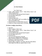 Procedure to Configure Alarm Summary and History