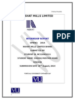 Internship Report of Nishat Mills Ltd.