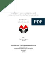 AA PAI - Analisis Kritis Atas Kedudukan dan Fungsi Hadis.docx