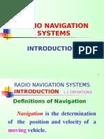 RADIO NAVIGATION SYSTEMS