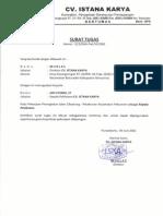 Surat Tugas - Kepala Pelaksana