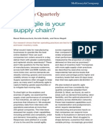 How Agile is Your Supply Chain