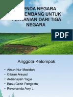 Agenda Negara Berkembang untuk Pertanian dari 3 Negara