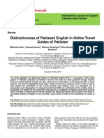 Distinctiveness of Pakistani English in Online Travel Guides of Pakistan