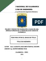 Proyecto de Tesis - RIESGO INUNDACIÓN
