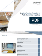 Track 3 - Leading Practice Examples of Audit Committee Reporting