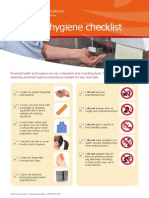 Personal Hygiene Checlist