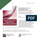 Fundamentos de La Programacion Estructuras de Datos
