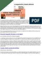 Bibliografía de Maquetación y Diseño Editorial