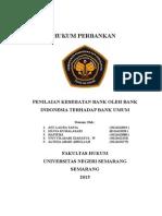 Penilaian Kesehatan Bank Umum Oleh Bank Indonesia -Tugas Kelompok