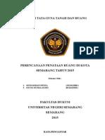 Makalah Penataan Ruang Kota Semarang Tahun 2015