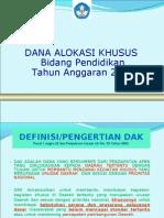 Dak Pendidikan-smp 2010