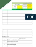 Weekly progress report sample format
