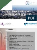 2014 ABRAIDI Third Party Distributors Managing Compliance Risk GMTCC Barcelona 2014 Rev II