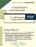 04 Kalor Dan Hukum I Thermodinamika