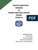 Six Months Industrial Training SWARAJ