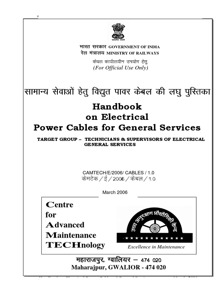 Handbook On Power Cables For General Services1 Insulator Electrical Wiring Electricity Cable