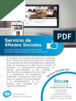 redes sociales brochure