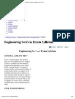 Engineering Services Exam Syllabus 2012-2013