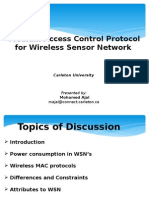 Survey on WSN MAC Protocol