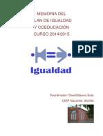 MEMORIA DEL PLAN DE IGUALDAD Y COEDUCACIÓN.pdf