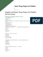 English Literature Mcqs Paper for Publice Service Exam(1)