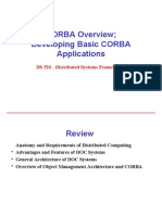 6565730 CORBA Overview Developing Basic CORBA Applications Distributed Systems Frameworks