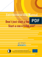 2007 - Entrepreneurship Manual - Don't Just Start a Business  Start a Successful One