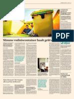 06 06 2015 de Tijd p16 Slimme Vuilniscontainer Haalt Geld Op Single